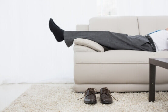 Man Resting with Back Pain