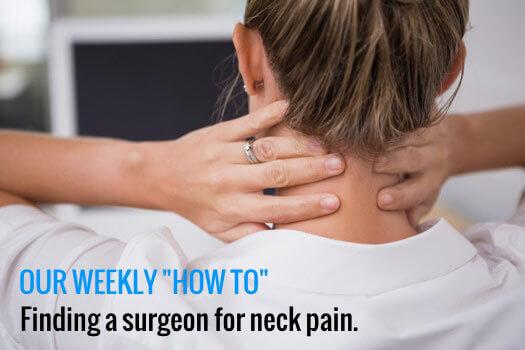 Surgeons for Neck Pain