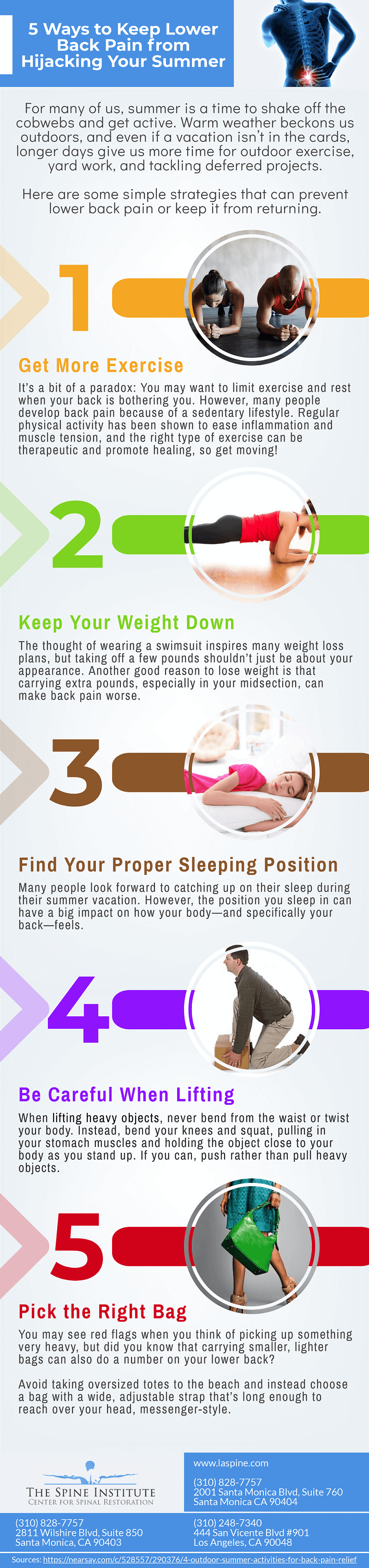 5 Ways to Stop Lower Back Pain in the Summer [Infographic]