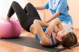 How to Use an Exercise Ball to Rehab Your Back in Los Angeles, CA